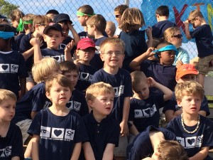 Boys on one side, girls on the other!  Here is Jack, in a sea of kindergarten boys.