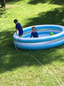 Boys in the pool