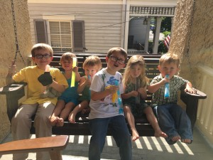 Three of these children are two years old!  And none of them are particularly skilled at eating popsicles.