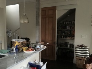 Other end of the kitchen.  Really, these pics are not amazing but you get the idea.  The pantry is there, with its big barn door