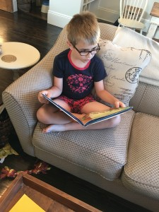 In the absence of visitors, this guy reads to his little bros