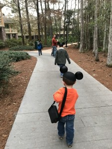 Soldiers marching off to war/taking down Disney World