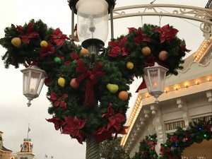 Christmas decorations - they slowly took them down during the days we were there.