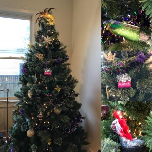 """MG Tree - plus my favorite """"ornaments"""" - the purses and shoes I've caught in Nyx and Muses"""