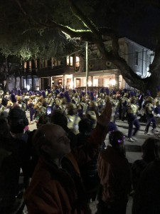 St. Aug's, the Marching 100.  These poor kids probably march 200 miles during Mardi Gras, but they get well paid for it.